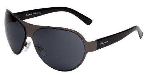 nnenbrille für Herren von Burgmeister mit 100% UV Schutz | Sonnenbrille mit stabiler Metallfassung, hochwertigem Brillenetui, Brillenbeutel und 2 Jahren Garantie | SBM126-181 ()