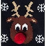 Doggie Style Store Black Reindeer Rudolph Cat Pet Kitten Knitted Jumper Knitwear Christmas Xmas Sweater Size XS 31hdeuYV6XL