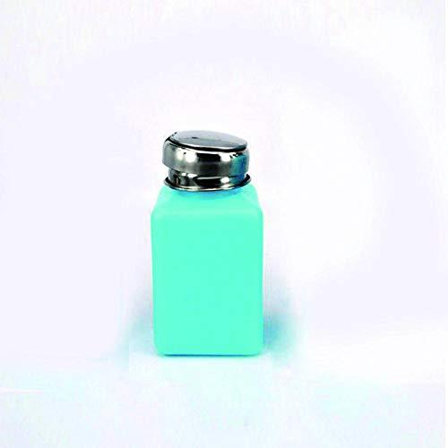 Febelle Tragbare Alkohol-Aufbewahrung Flaschenpresse Edelstahl Behälter antistatisch Kunststoff Flüssigkeitshalter 200 ml blau