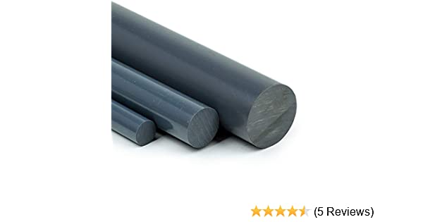 PVC Rundstab grau /Ø 30mm PVC-U Kunststoffstab auf Zuschnitt 75cm L: 750mm