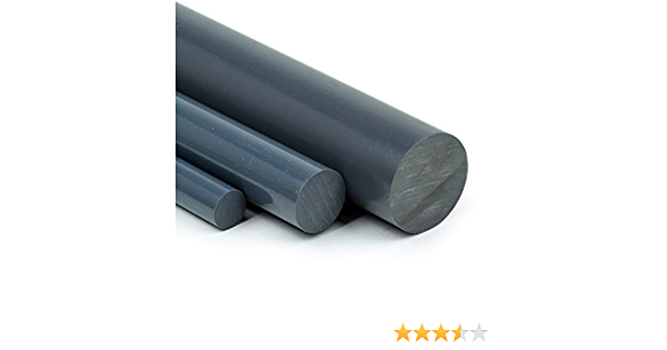 20cm PVC Rundstab grau /Ø 40mm L: 200mm PVC-U Kunststoffstab auf Zuschnitt