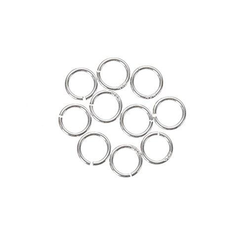 5 mm Ouverture Anneaux en argent sterling 925 6 10 mm d'épaisseur