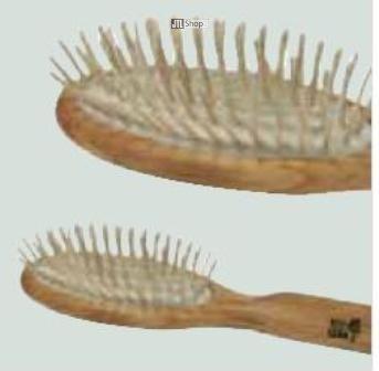 KostKamm-Spazzola, proprio legno a nodi, in legno di olivo, 9file, 1pz