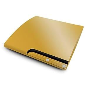 YOUNiiK Designfolie / Skin für Sony PlayStation 3 slim - Metallics Gold