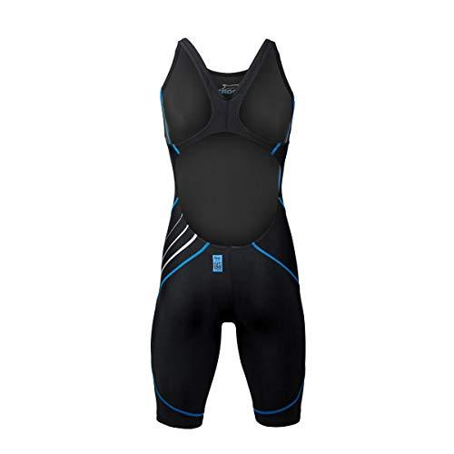 ZAOSU Wettkampf-Schwimmanzug Z-Black – Badeanzug für Mädchen und Damen, Größe:164, Farbe:schwarz/blau - 3