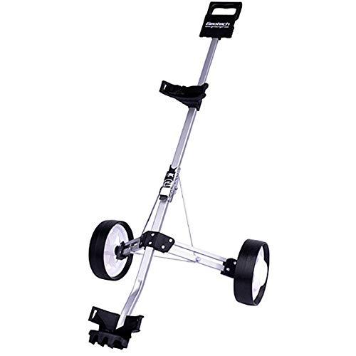 LJPzhpGolf Golfwagen Golf Cart Swivel Faltbarer 2-Rad-Push-Pull-Wagen Golf-Trolley-Golf-Push-Wagen -