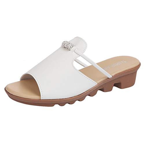 Pantofole da Donna Antiscivolo Casual, Honestyi Pantofola Donna - Sandali Donne Ciabatte Ciabatta Mare da Donna Infradito Scarpe Moda Flip Flops Bagno Pantofole da Casa Morbido