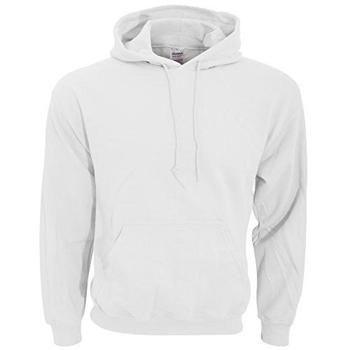 Gildan Heavy Blend Kapuzenpullover (2XL) (Weiß) XXL,Weiß