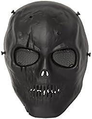 ALEKO pbm213bk calavera esqueleto Airsoft máscara con gafas de malla de alambre táctico Paintball Airsoft máscara de protección, Negro