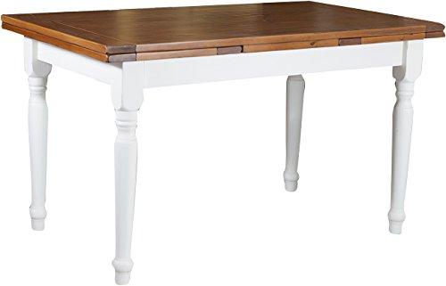 Tavolo-allungabile-Country-in-legno-massello-di-tiglio-struttura-bianca-anticata-piano-noce-140x80x80-cm