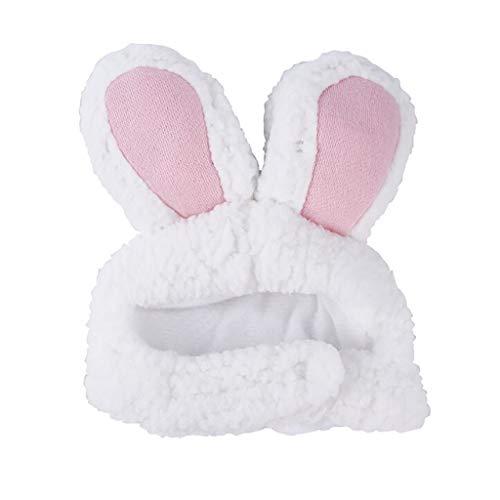 Lomsarsh Hund Pet Hut Bunny Rabbit Ohren für Katze kleine Hunde Kätzchen Party Stirnband für Katzen Kätzchen und kleine Hunde Party Kostüm Zubehör Kopfbedeckungen (Pink) (Hund Bunny Ohren Kostüm)