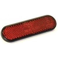 Rinder - Catadióptrico Ovalado Adhesivo Rojo Homologado 100 x 28 mm.