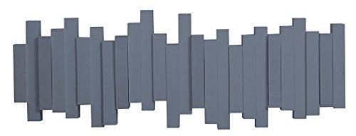 Umbra Sticks Multi Gancio, Plastica, Blue Nebbia, 49.53 x 18.1 x 3.18 cm