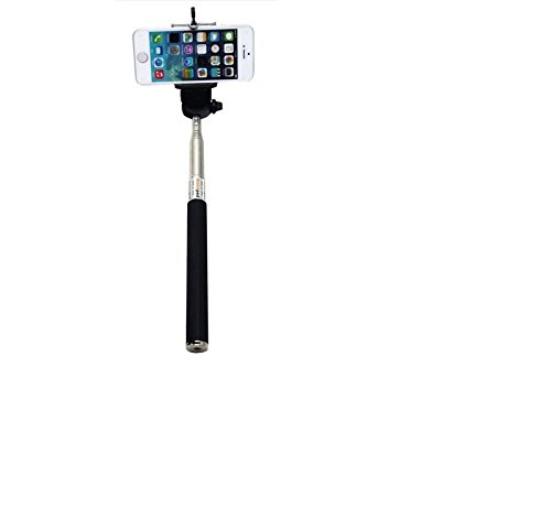 Selfie Stick per Samsung, Huawei, HTC, Apple, Motorola, LG Electronics, Medion, Cubot, TIMMY, odys, Blackview, Uhans, LG, nero, Monopiede, asta telescopica, Autoritratto