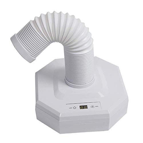 Weiß Nail Staubsauger Collector Nagelstaubsammler,60W starker Nagelreiniger Nagelventilator-Trockner im Winkel-Design Glück Pediküre-Tool, White -
