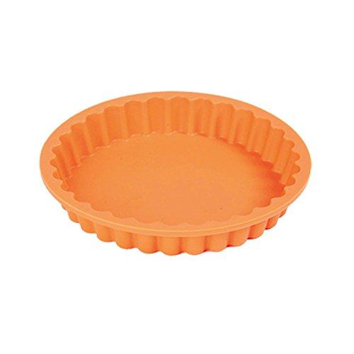 """Platinum Silicone Quiche Form """"Mini"""", Baking Mould 12 x 12 x 1.5 cm, Premium Quality, Made in Italy, Flan Mould, Flan Form, Pie Mould, Pie Form, Silicone Cake Pan, Round Quiche Dish, Includes Gift Box, Ø12 cm (Mini)."""