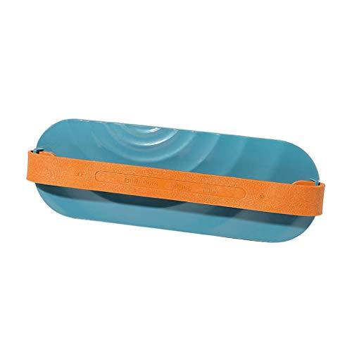 bloatboy 1 pc Kunststoff Wandbehang Schuhregal, Startseite Slipper Aufbewahrungshalter Regal, Punsch Freies Klebrig Wandbehang Hängender Schuhhalter (Blau)