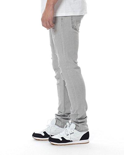 Black Kaviar Homme Jeans / Jeans Straight Fit Koop Gris