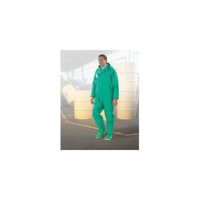ONGUARD 71050 PVC on Nylon Polyester Chemtex Level C Bib Overall with Plain Front, Green, Size 2X by ONGUARD Industries Nylon-overalls