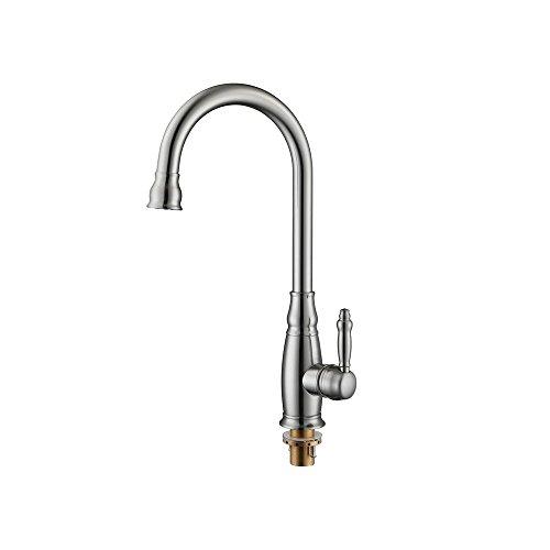 HTYQ Kitchen Sink rubinetto calda e fredda di rame girevole