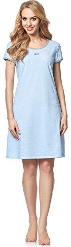 Italian Fashion IF Camicia da Notte per Donna Jenna 0114 Blu Cielo
