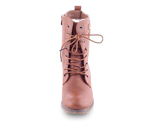 Damen Schuhe, B209, STIEFELETTEN Camel