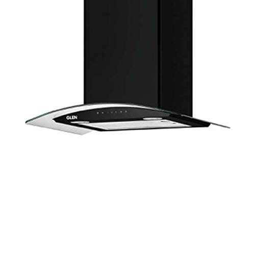 Glen 60cm 1200 m3/hr Auto Clean Chimney (Melissa A Clean BL 60, 1 Baffle Filter, Touch Control, Black)