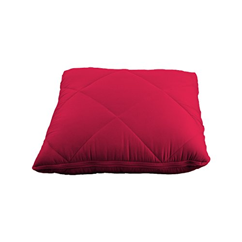 JML quishion 2-in-1-gemütlich Warm Luxuriöse Qualität Bequem Kombination Quilt/Decke & Kissen/Kissen rot