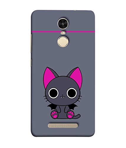 Printfidaa Cat with Pink Ears in Gray Colour Background Print Designer Back Cover for Xiaomi Redmi Note 3 MediaTek