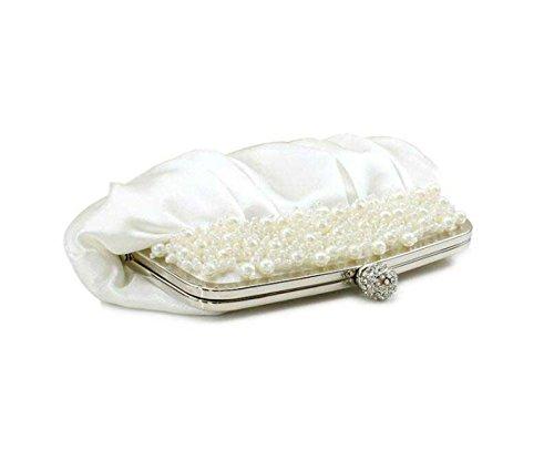 Seta Piegato Donne Borsa In Rilievo Handmade Messenger Bag White