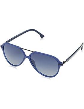 Police Drop 2, Gafas de Sol para Hombre, Azul (Matt Milky Dark Blue), 58
