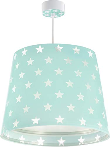 Dalber Stars Hängelampe, Plastik, E27, grün, 33 x 33 x 25 cm