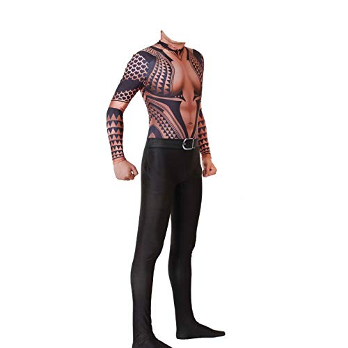 yacn Aquaman Orin Body Traje Traje, Arthur Curry Spandex Zentai Overol Monos Cosplay 4