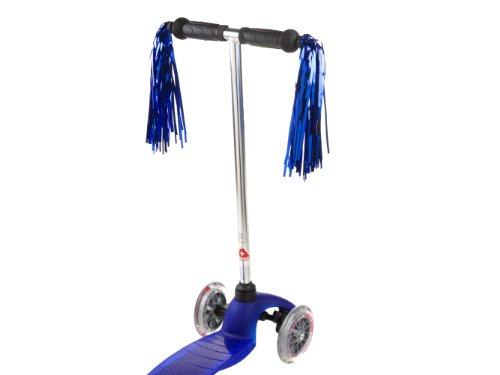 Scoot Scooter und Fahrrad Luftschlangen (blau) (Kunststoff-fransen-girlande)