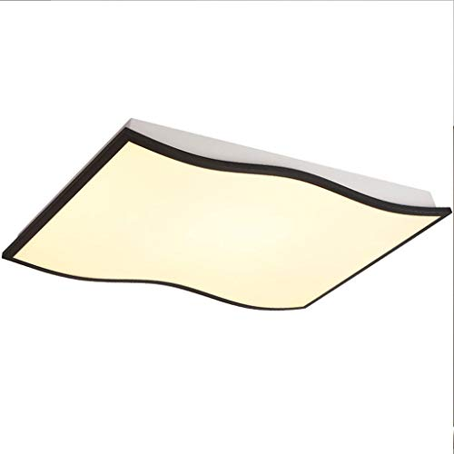 Deckenleuchte Deckenlampe LED Curve Kronleuchter Innen Beleuchtung Flur Unterputz Wohnzimmer Treppenhaus Mall Schlafzimmer Super hell, (Schwarz) Größe: 110 * 70 * 8 CM