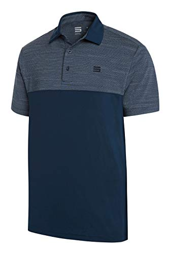 Jolt Gear Dri-Fit Golf Shirts für Männer - Feuchtigkeitstransport Kurzarm Polo Shirt, Herren, Midnight Blue, Small -
