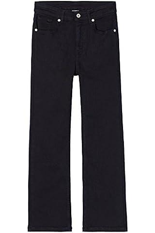 FIND Damen Flared Jeans Crop Schwarz (Washed Black), Schwarz (Washed Black), W36/L32 (Herstellergröße: XXL)