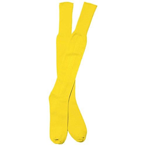 NEW Rhino-Lunghezza al ginocchio a coste apertura Calcio, Rugby, Scarpe da ginnastica calzini Yellow (Rhino Calzini)