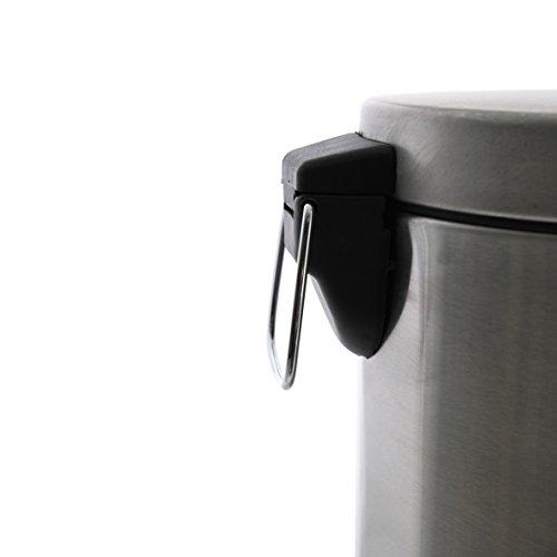 axentia/ /Incluye para Inodoro Cepillo Cabeza /Juego de escobilla de ba/ño y Soporte de Acero Inoxidable con de Acero Inoxidable higi/énico extra/íble Vaso de Vidrio/