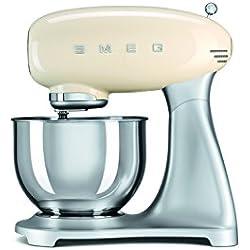 Smeg SMF01CREU 800W 4.8L Cream food processor - food processors (4.8 L, Cream, 1 m, Stainless steel, Aluminium, Stainless steel, Zinc steel, 800 W)