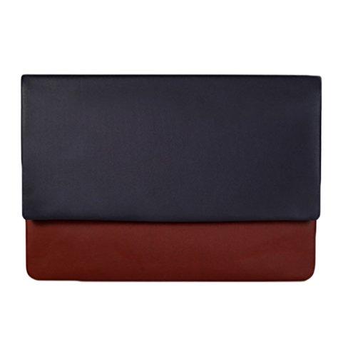 YiJee Tissu de Faux Cuir Portable Imperméable Soft Sleeve Housse pour Macbook / Ordinateur Portabl 11.6/13 Pouces