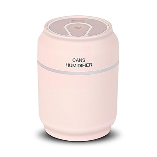 Price comparison product image Spritumn 3 In 1 Protable Humidifier & Fan & Night Lights USB LED Ultrasonic Air Cans Humidifier Essential Aroma Oil Diffuser Improves Health, Skin, Mood, Sleep for Home Baby Room Bedroom Office (C)