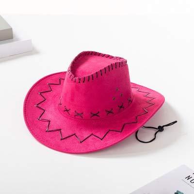 TYMZTY Sonnenhut New Western Cowboy Hüte Für Männer FrauenAnkunft Mode Tourist Caps Für Kind Jungen Gilrs Party Kostüme Cowgirl Cowboy HütePink