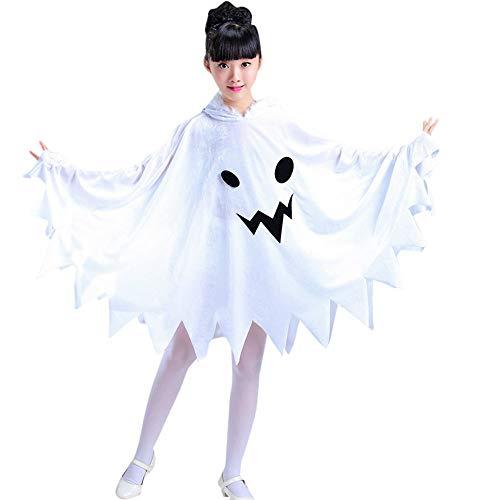 Hirolan Umhang Cloak Coat Halloween Kleinkind Kinder Baby Mädchen Kleider Cosplay Kleidung Mit Kapuze Kostüm Kleid Partyumhang Kapuzenpullover Outfit (Weiß, 100)