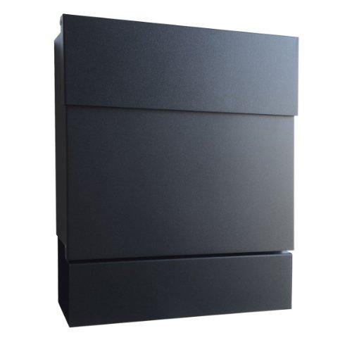 Radius Briefkasten Letterman 5 schwarz mit Zeitungsrolle - 561 F