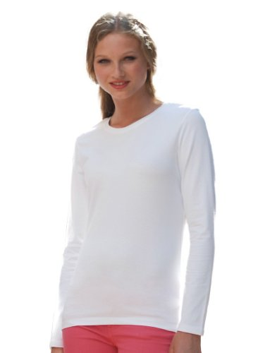 SF femme sK111 t-shirt à manches longues en tissu stretch pour femme Rose - Fuchsia