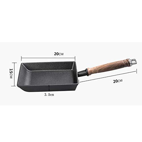 ZRWL Pfanne antihaft verdickt gusseisen bratpfanne brenntopf 20 * 15 * 3,5 cm bratpfanne (Farbe : SCHWARZ)