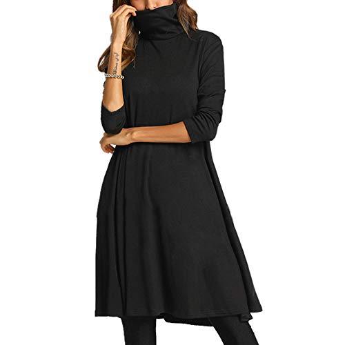 Abito YanHoo Vestito Casuale Allentato dalla Spalla Fredda Elegante della Manica Lunga delle Donne con la Cinghia per Il Partito del Lavoro