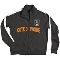 Côte d Ivoire cote d ivoire Veste à fermeture éclair avec armoiries brodé e5e43ec35da1
