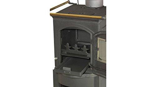 Globefire Gussofen Pluto, Gusseisen, 5 kW, ext. Luftzufuhr, Kochplatte und Herdstangen - 9